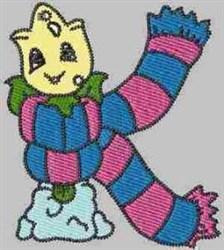 Winter Alphabet K embroidery design