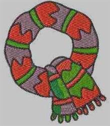 Winter Alphabet Q embroidery design