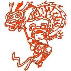 RW Girl & Kite embroidery design
