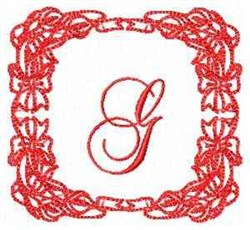 Christmas Lily G embroidery design