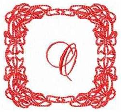 Christmas Lily O embroidery design