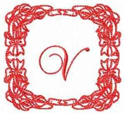 Christmas Lily V embroidery design