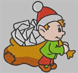 Elf & Letters embroidery design