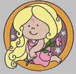 Virgo Symbol embroidery design