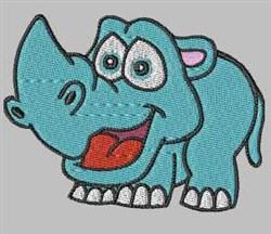 Cute Rhino embroidery design