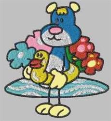 Summer Teddy embroidery design