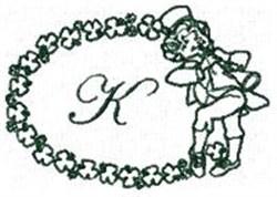 St Pattys Alphabet K embroidery design