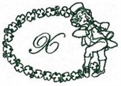 St Pattys Alphabet X embroidery design