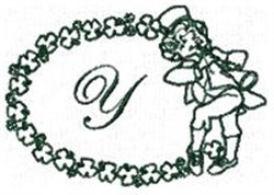 St Pattys Alphabet Y embroidery design