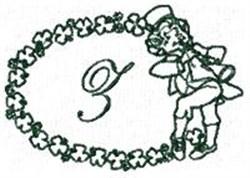 St Pattys Alphabet Z embroidery design