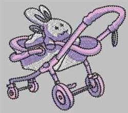Bunny Stroller embroidery design