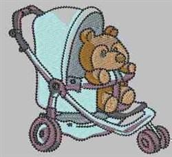 Teddy Stroller embroidery design