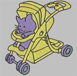 Toy Stroller embroidery design