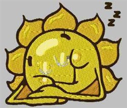 Sleeping Sun embroidery design