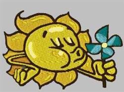 Sun & Pinwheel embroidery design