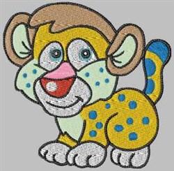 Cartoon Leopard embroidery design
