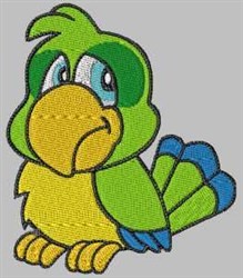 Cartoon Parrot embroidery design