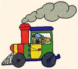 Teddy Express Engine embroidery design