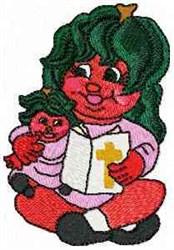 Katie & Jessie Tomato embroidery design