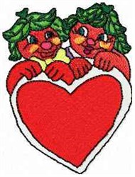 Terry & Tommy Tomato embroidery design