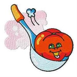 Tomato In Spoon embroidery design