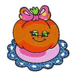 Girl Tomato embroidery design