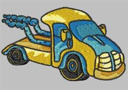 Yellow Truck embroidery design