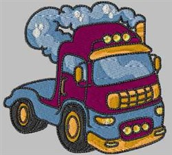 Red Truck embroidery design