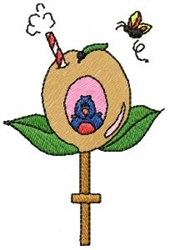 Apple Birdhouse embroidery design
