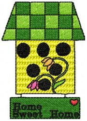 Birdhouse Home embroidery design