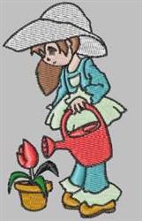 Sarah Gardening embroidery design
