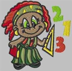 Math Girl embroidery design