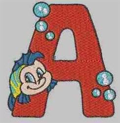 Sea World Alphabet-A embroidery design