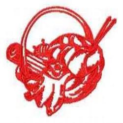 Redwork Basket embroidery design