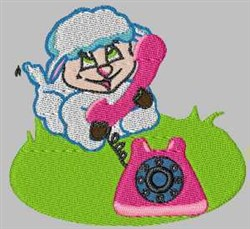 Sheep & Phone embroidery design