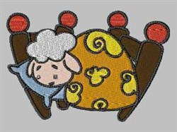 Sheep In Bed embroidery design