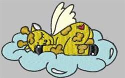 Giraffe Angel embroidery design