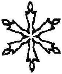 Snow Flake Outline embroidery design