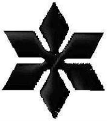 Geometric Snowflake embroidery design