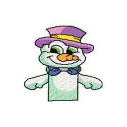 Snowman Puppet Front embroidery design