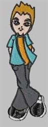 Teen Boy embroidery design