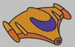 Space Vehicle embroidery design