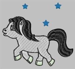Pony & Stars embroidery design