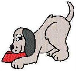 Dog & Bowl embroidery design
