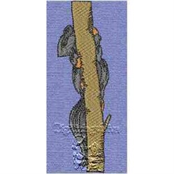 Squirrel In Tree embroidery design