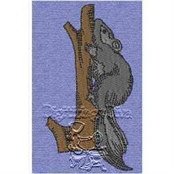 Squirel On Branch embroidery design