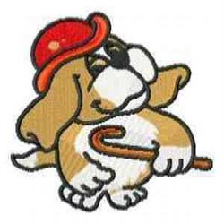 Redhat Beagle embroidery design