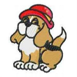 Red Hat Puppy embroidery design