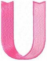Ribbon Letter U embroidery design
