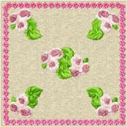 Rose Block embroidery design
